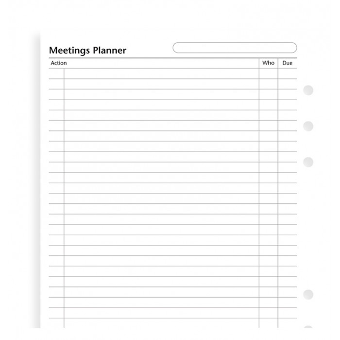 A5 Meetings Planner
