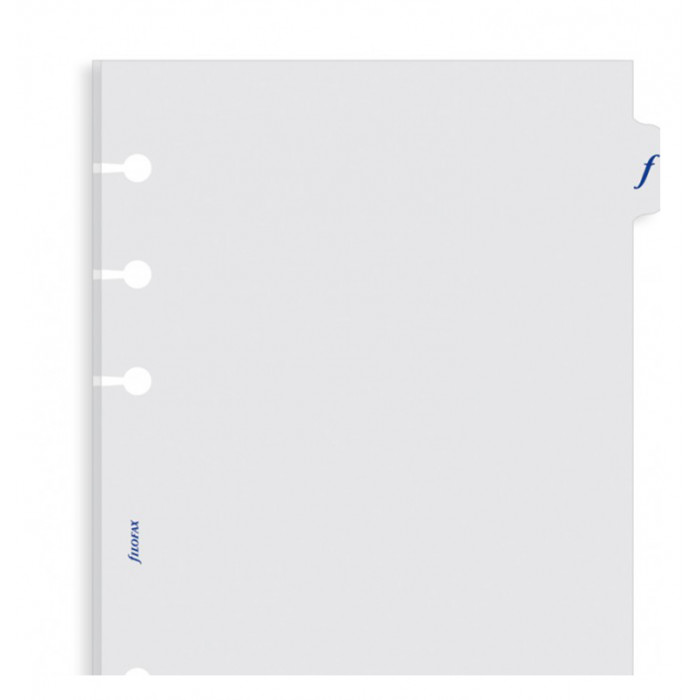 Personal Transparent Flyleaf With Tab