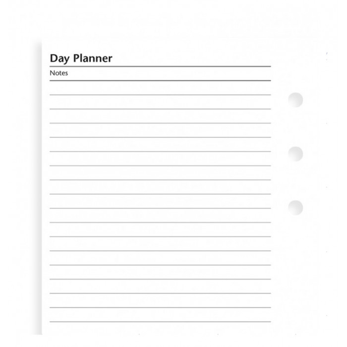 Personal Day Planner Undated